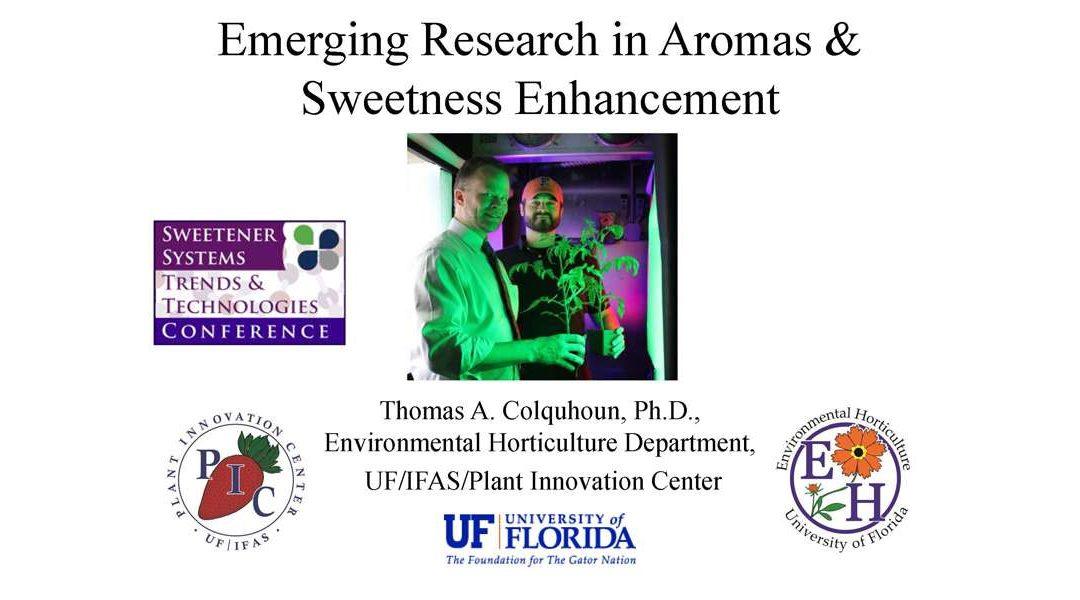 New Research Aromas & Sweetness