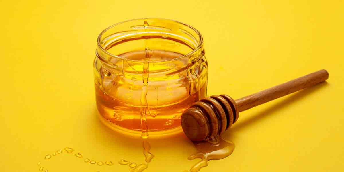 The jar of honey represents a natural sweetener that can be used in many applications.