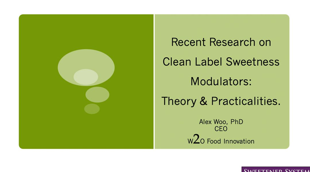Clean Label Sweetness Modulators