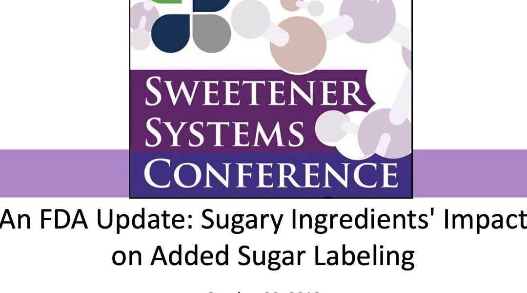 An FDA Update: Sugary Ingredients' Impact on Added Sugar Labeling