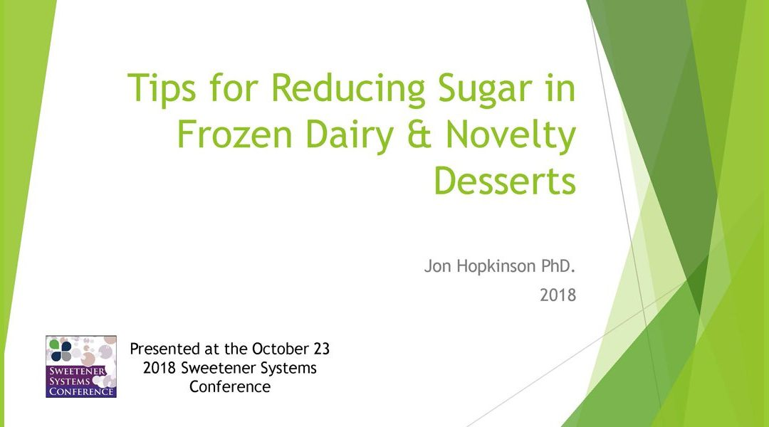 Tips for Reducing Sugar-Frozen Desserts Presentation