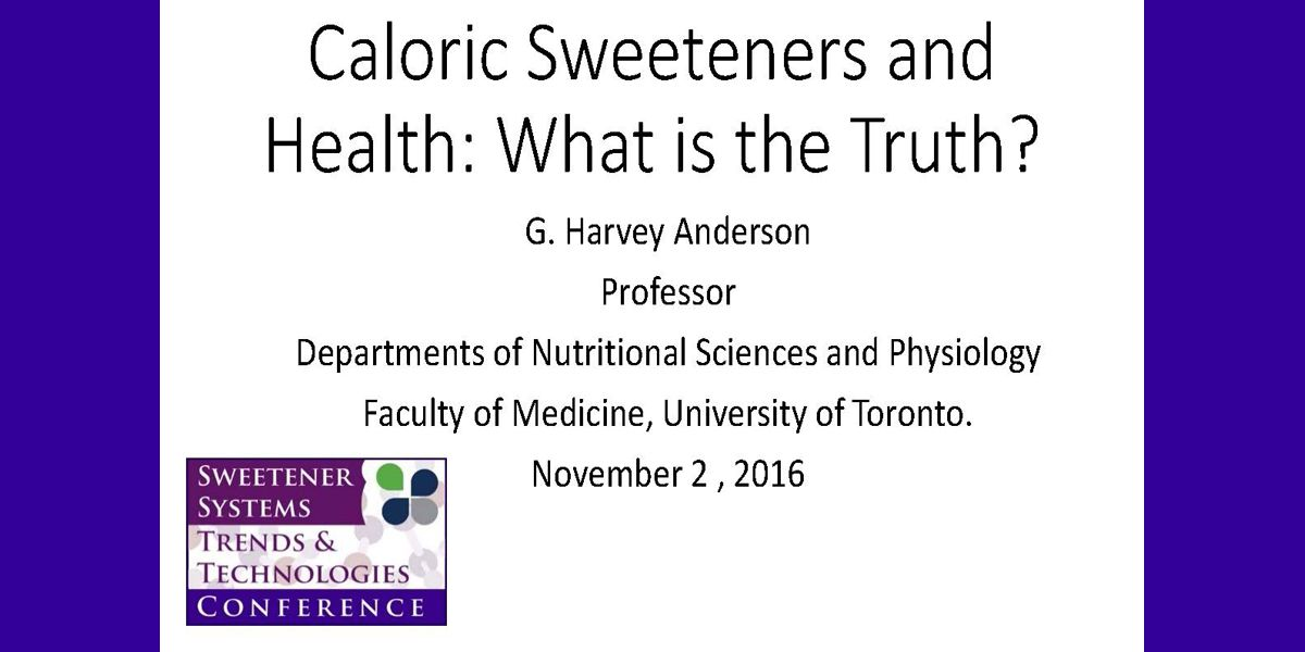 G HARVEY ANDERSON SWEETENERS AND HEALTH 2016 SSC