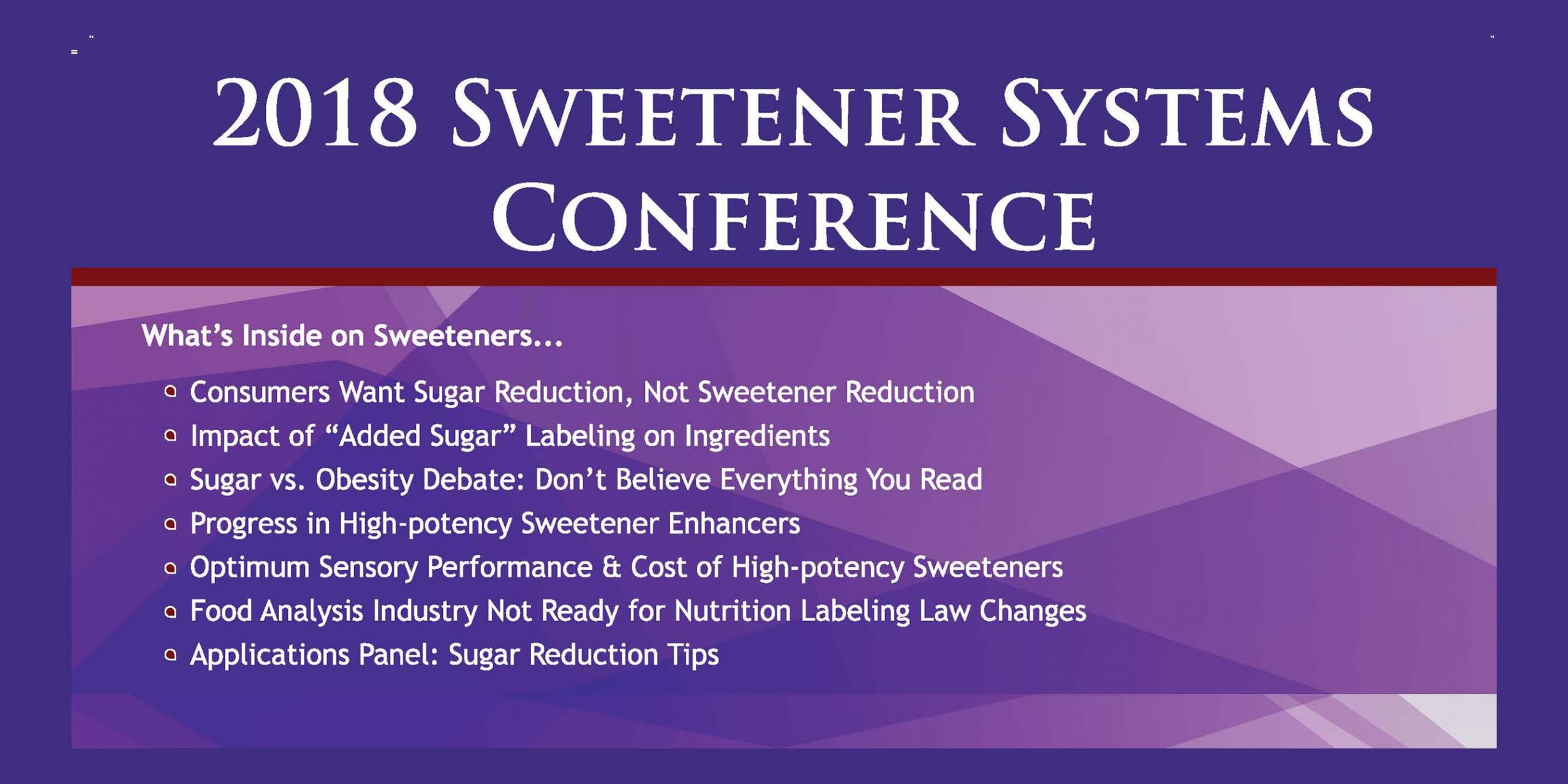 2018 SWEETENER SYSTEMS POST CONFERENCE MAGAZINE-FEATURE